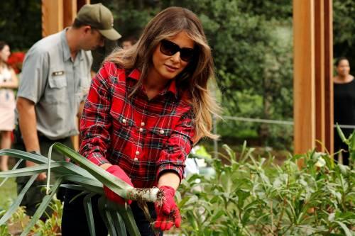 Melania Trump come Michelle: fa l'orto alla Casa Bianca 16