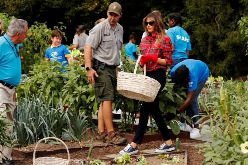 Melania Trump come Michelle: fa l'orto alla Casa Bianca 2