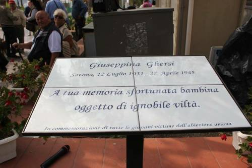 Sulla targa per Giuseppina Ghersi vince l'Anpi