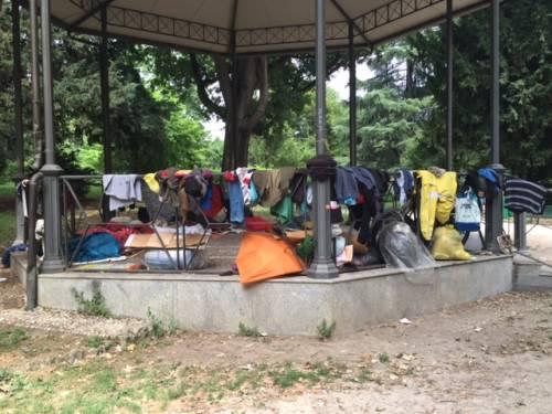 Milano, Giardini Montanelli nel degrado 2