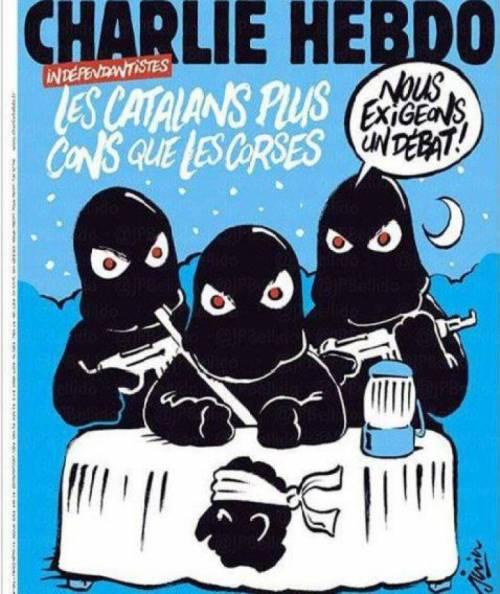 """Charlie Hebdo attacca anche i catalani: """"Più idioti dei corsi"""""""