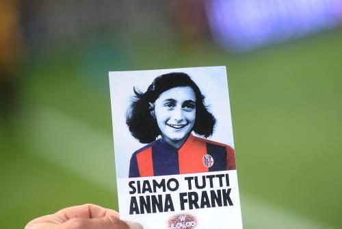 Lazio a Bologna con la maglia di Anna Frank 2