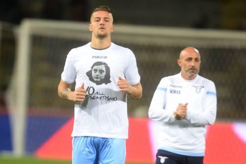 Lazio a Bologna con la maglia di Anna Frank 4