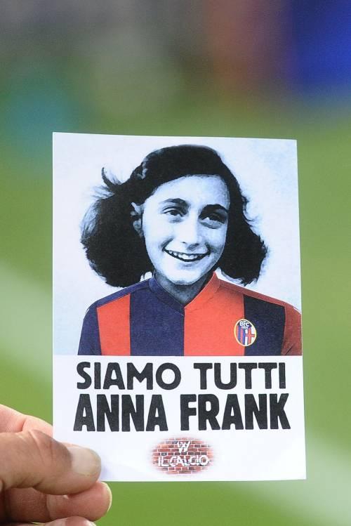 Lazio a Bologna con la maglia di Anna Frank 3