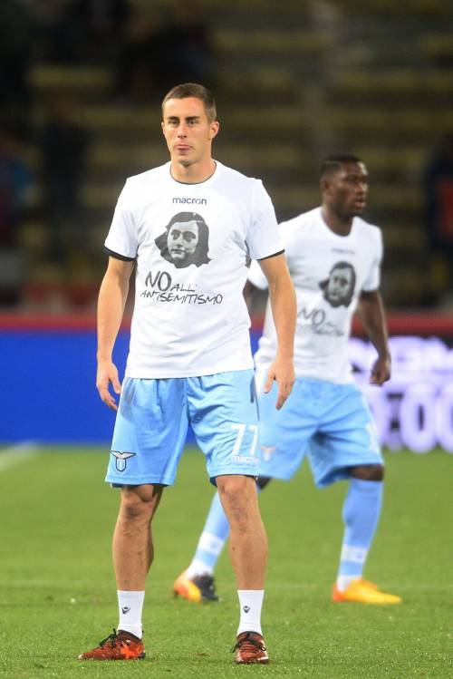 Lazio a Bologna con la maglia di Anna Frank 5