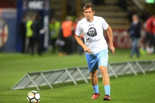 Lazio a Bologna con la maglia di Anna Frank 6
