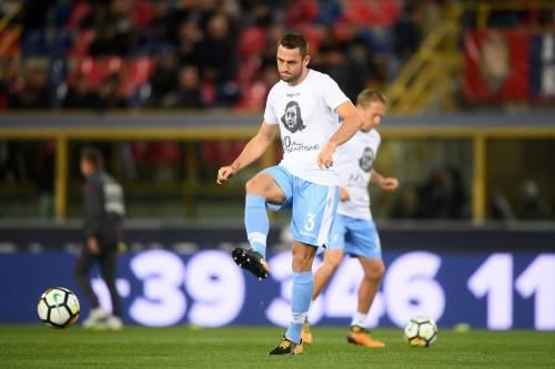 Lazio a Bologna con la maglia di Anna Frank 10