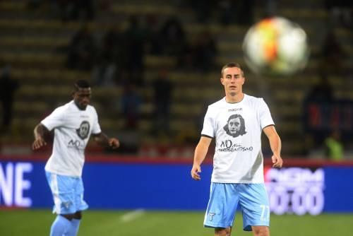 Lazio a Bologna con la maglia di Anna Frank 14