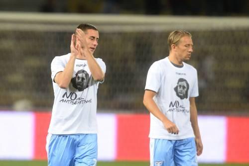 Lazio a Bologna con la maglia di Anna Frank 18