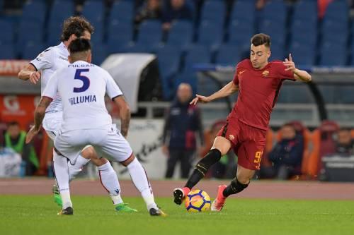 La Roma batte di misura il Bologna: 1-0 e meno uno dalla Lazio