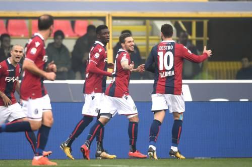 Bologna imperioso contro la Sampdoria: secco 3-0 dei rossoblù