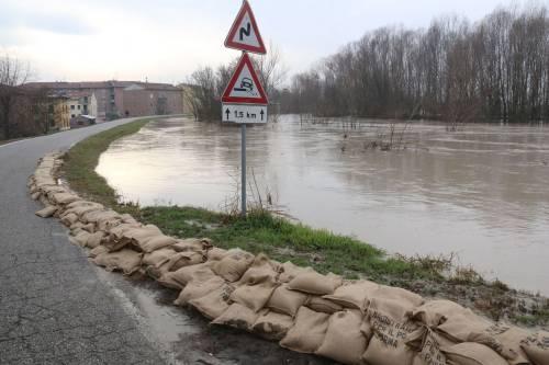 Il torrente Parma esce dagli argini 8