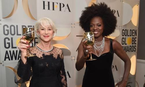 Golden Globe 2018, star in nero sul red carpet 9
