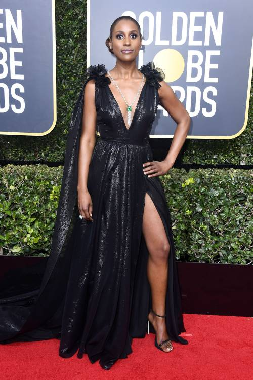 Golden Globe 2018, star in nero sul red carpet 7