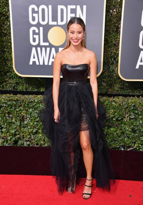 Golden Globe 2018, star in nero sul red carpet 12