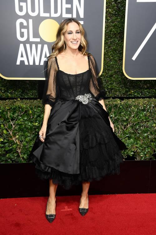 Golden Globe 2018, star in nero sul red carpet 15