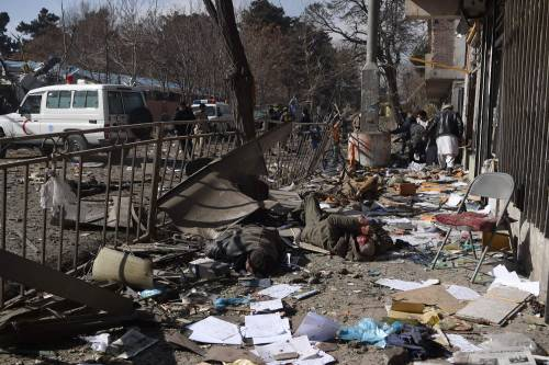 I feriti nell'attentato di Kabul 17