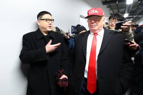 E a PyeongChang spuntano gli imitatori di Trump e Kim