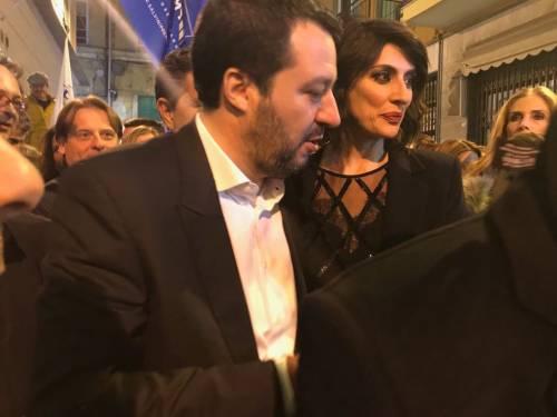 Salvini e la Isoardi a Sanremo 3
