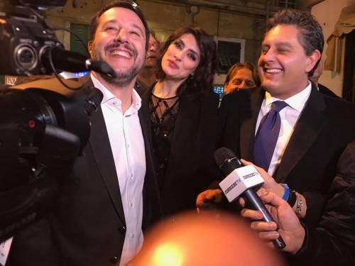 Salvini e la Isoardi a Sanremo 2