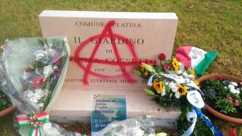Ripristinata la targa a Norma Cossetto: era stata vandalizzata con la vernice