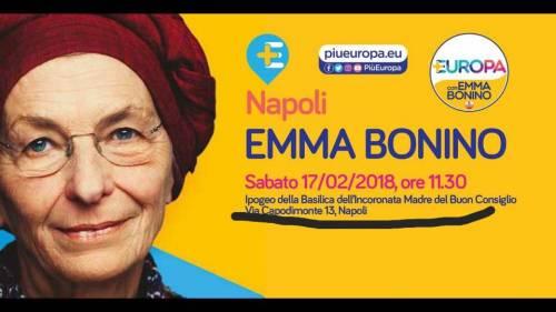 Emma Bonino fa campagna elettorale in chiesa
