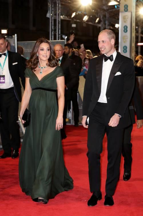 Kate Middleton incinta ai Bafta 2018 9