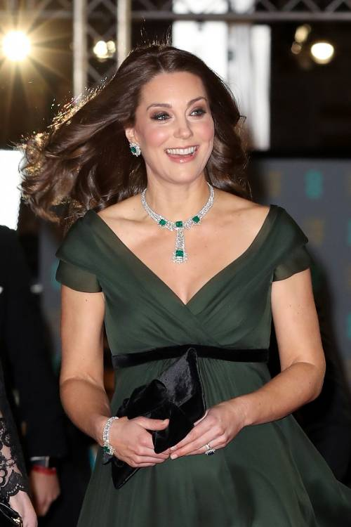 Kate Middleton incinta ai Bafta 2018 10