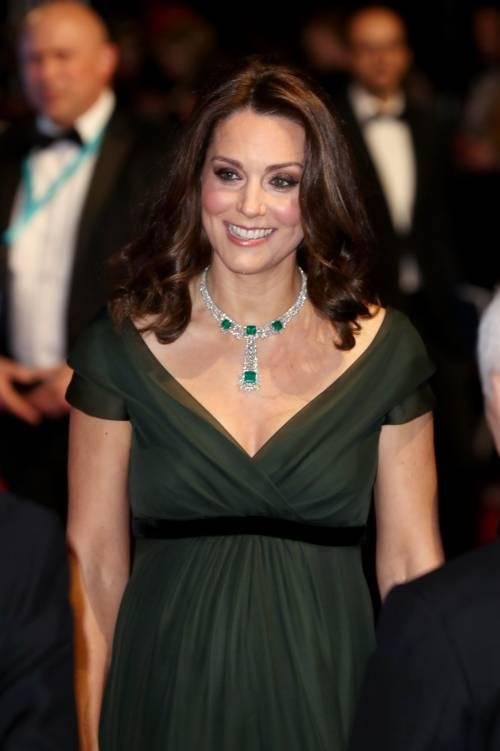 Kate Middleton incinta ai Bafta 2018 11