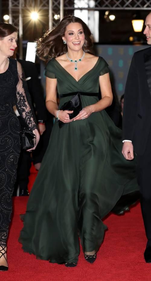 Kate Middleton incinta ai Bafta 2018 14