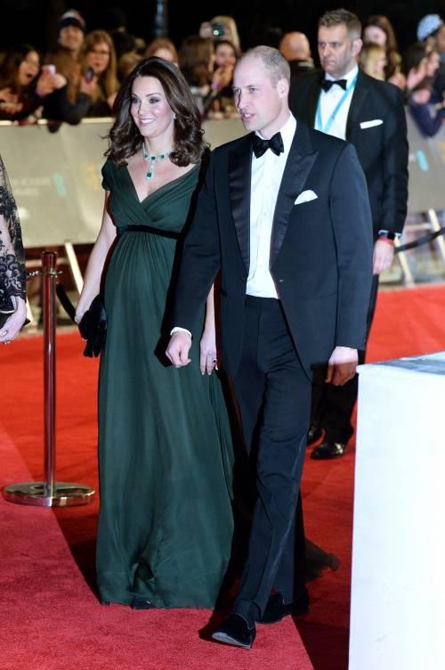 Kate Middleton incinta ai Bafta 2018 15