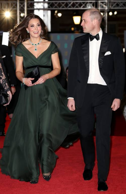 Kate Middleton incinta ai Bafta 2018 16