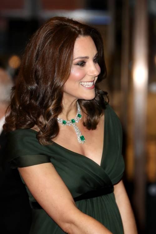 Kate Middleton incinta ai Bafta 2018 19