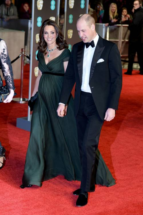 Kate Middleton incinta ai Bafta 2018 4