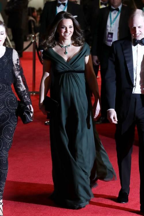 Kate Middleton incinta ai Bafta 2018 8