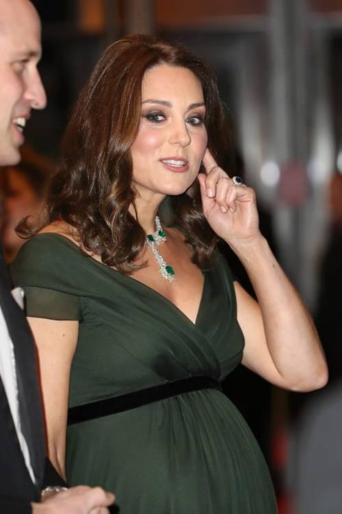 Kate Middleton incinta ai Bafta 2018 2