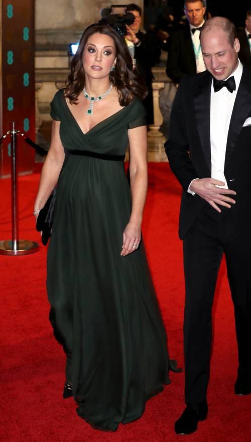BAFTA 2018, celebrities in total black sul red carpet