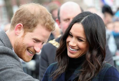Meghan Markle raggiante col Principe Harry 2