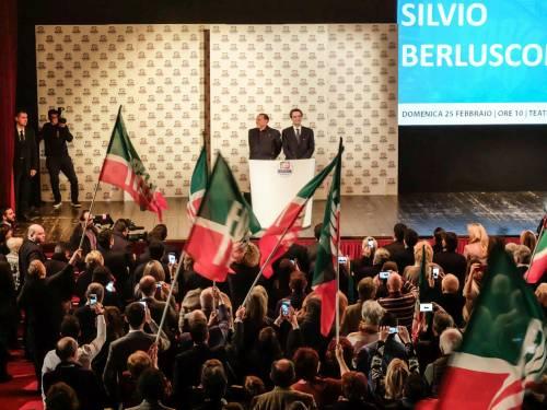 L'affetto che circonda Berlusconi a Milano 5