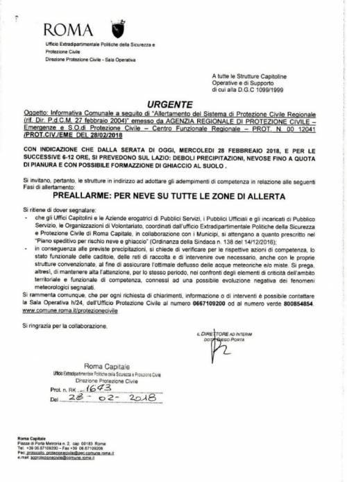 Allerta meteo a Roma: la circolare è piena di errori grammaticali