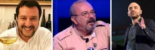 Salvini brinda ai suoi nemici. Saviano, Vauro & Co. si irritano