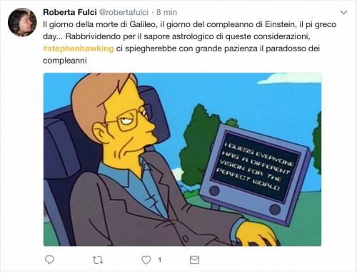Stephen Hawking, le reazioni social sulla morte 1