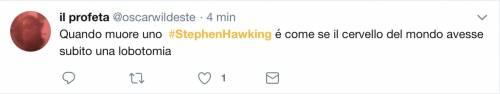 Stephen Hawking, le reazioni social sulla morte 5