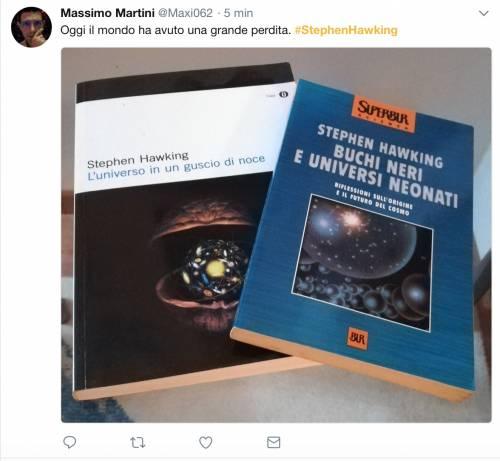 Stephen Hawking, le reazioni social sulla morte 6