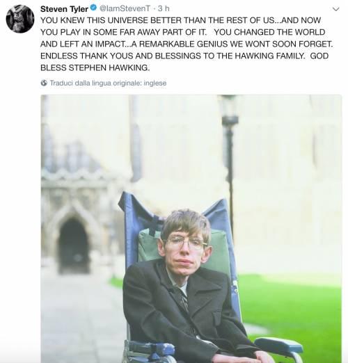 Stephen Hawking, le reazioni social sulla morte 16