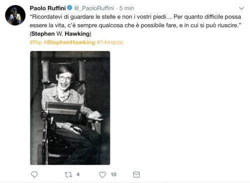 Stephen Hawking, le reazioni social sulla morte 18
