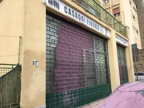 Imbrattata la sede di Casaggì a Firenze 5