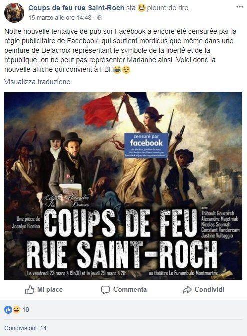 """Quella """"censura"""" di Facebook sul dipinto di Eugène Delacroix"""