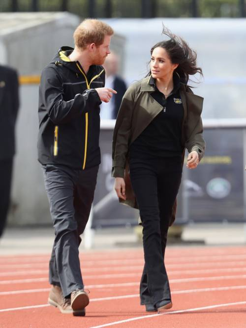 Meghan Markle con il Principe Harry agli Invictus Games 19
