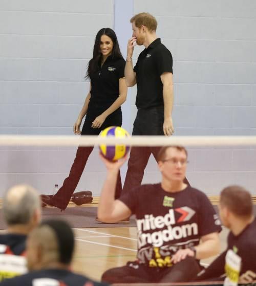 Meghan Markle con il Principe Harry agli Invictus Games 1